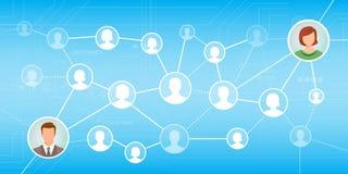 Sociaal netwerk Stock Foto's