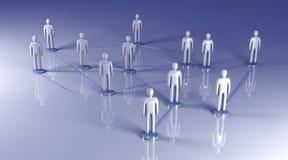 Sociaal Netwerk Stock Foto