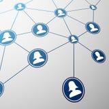 Sociaal netwerk De illustratie van de voorraad Stock Afbeeldingen