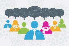 Sociaal netwerk en communicatie concept Stock Afbeeldingen