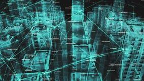Sociaal netwerk en datacommunicatieverbinding royalty-vrije illustratie