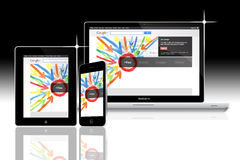 Sociaal netwerk Google plus Stock Foto