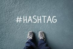 Sociaal netwerk hashtag royalty-vrije stock afbeelding
