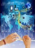 Sociaal netwerk. Het concept van Internet Stock Fotografie