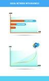 Sociaal netwerk met zaken, elektronische handel Royalty-vrije Stock Foto's
