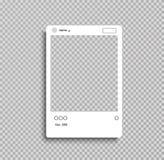 Sociaal netwerk postkader voor uw foto transperent achtergrond Vector illustratie - Het vector stock illustratie