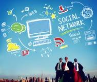 Sociaal Netwerk Sociaal Media het Web Online Concept van Internet WWW Royalty-vrije Stock Foto