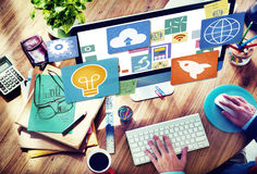 Sociaal Netwerk Sociaal Media het Web Online Concept van Internet WWW Royalty-vrije Stock Afbeelding