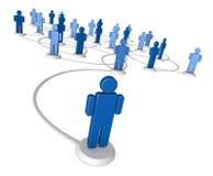 Sociaal Netwerk van Mensen Stock Foto's