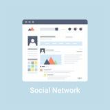 Sociaal Netwerk Wireframe Stock Afbeeldingen