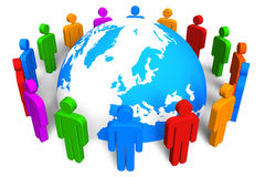 Sociaal netwerkconcept stock illustratie