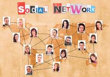 Sociaal netwerkconcept Royalty-vrije Stock Fotografie