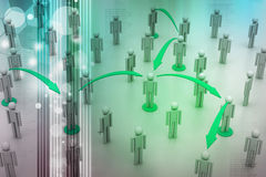 Sociaal netwerkconcept Stock Afbeelding