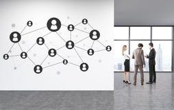 Sociaal netwerkconcept Stock Foto's