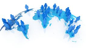 Sociaal netwerkconcept op wereldbol Royalty-vrije Stock Afbeelding