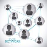 Sociaal netwerkontwerp Stock Afbeelding