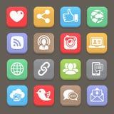 Sociaal netwerkpictogram voor mobiel Web, Vector stock illustratie