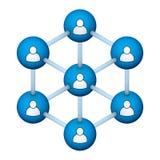 Sociaal netwerksymbool vector illustratie