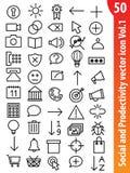 Sociaal vectorpictogram Vol1 Stock Afbeeldingen