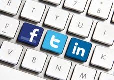Sociaal Voorzien van een netwerk Stock Foto