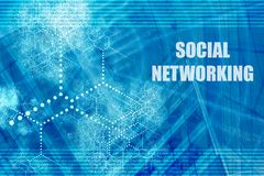 Sociaal Voorzien van een netwerk royalty-vrije illustratie