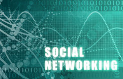 Sociaal Voorzien van een netwerk Stock Fotografie