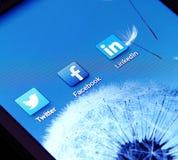 Sociaal voorzien van een netwerk apps Stock Foto's