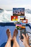 Sociaal voorzien van een netwerk op vakantie Royalty-vrije Stock Foto