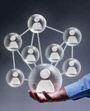 Sociaal voorzien van een netwerk in zaken Stock Foto