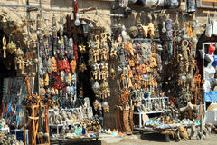 Sociable bazaar street of Egypt Royalty Free Stock Images