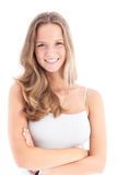 Sociable young girl with lovely smile Royalty Free Stock Photo