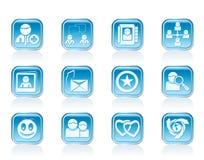 social интернета икон общины Стоковая Фотография RF