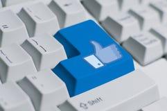 social клавиатуры Стоковая Фотография