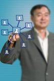 social нажима сети иконы бизнесмена старший Стоковые Фото