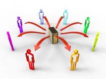 social обмена данными Стоковые Изображения