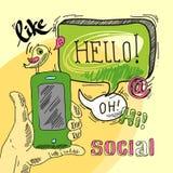 Social пузыря речи Стоковые Изображения