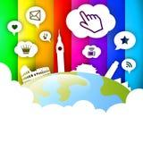 social сети глобуса Стоковое фото RF