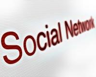 social сети стоковое фото rf