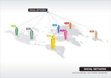 social сети Стоковое Изображение RF