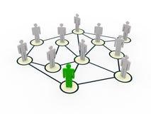 social людей сети 3d Стоковые Фотографии RF