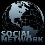 social сети средств глобуса земли гловальный Стоковое фото RF