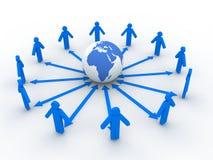 social сети принципиальной схемы Стоковые Изображения