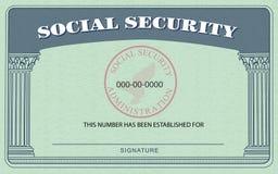 social обеспеченностью карточки Стоковое Изображение RF