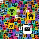 покрасьте social средств икон самомоднейший Стоковые Фотографии RF