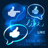 Social abstract background. Illustration vector Royalty Free Stock Images