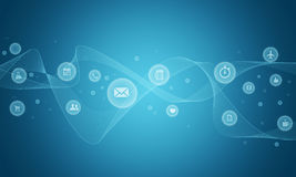Social abstract Background. Abstract Sign/Symbol Technology Internet  Concepts Stock Images