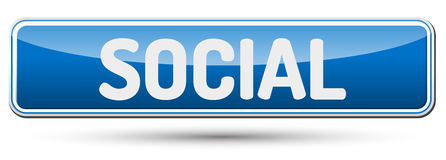 SOCIAL - Abstract beautiful button with text. Stock Image