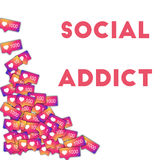 Social addict. Stock Images