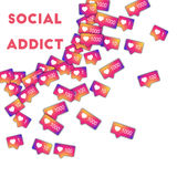 Social addict. Stock Photography