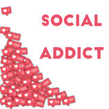 Social addict. Royalty Free Stock Image